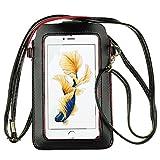 Cellphone Touch Screen Crossbody Shoulder Bag Purse Pouch Case for LG G8 ThinQ/LG G7 / LG V50 ThinQ/LG V40 ThinQ/LG Stylo 4 Plus/iPhone Xs Max/iPhone XR/OnePlus 7 / Google Pixel 3 XL