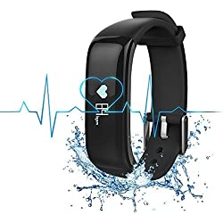 Bietia Fitness Tracker Smart Wristband, App - IP67 Water Resistance / Bluetooth 4.0, Blood pressure Monitor and Heart Rate Monitor, Compatible with Android and IOS