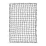 OrionMotorTech 4'x6' Stretches to 8'x12' Trailer Truck Bed Cargo Net with 24pcs Aluminium Hooks, 4'x4' Small Mesh, 1/5' Dia. Latex Bungee Cords