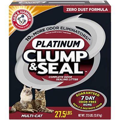 ARM & HAMMER Clump & Seal Platinum Clumping Cat Litter,...