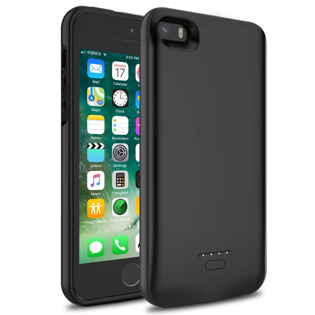 iPhone 5/5S/SE Battery Case, Wavypo 4000mAh Ultra Slim