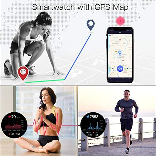 """COULAX Smart Watch, 1.4"""" Touch Screen Smartwatch, Fitness Tracker Step Counter, Activity Tracker with Heart Rate Monitor, IP68 Waterproof Sport Watch for Women and Men 6"""