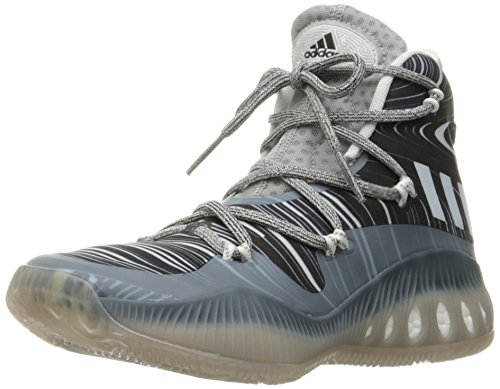 adidas Performance Men's Shoes | Crazy Explosive Basketball, Mgh Solid Grey/White/Black 1, (13 M US)