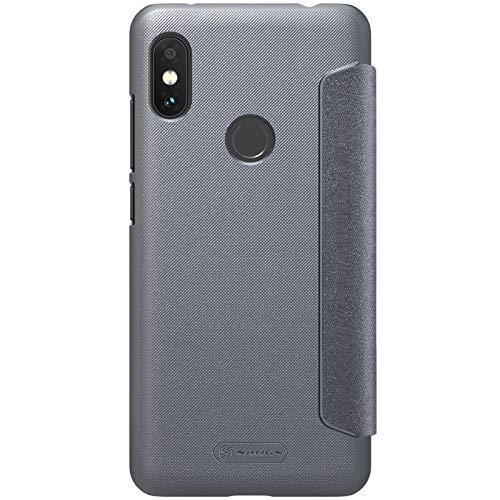 Nillkin Case for Xiaomi Redmi Note 6 Pro Sparkle Leather Flip Folio Book Type PC Black Color 3