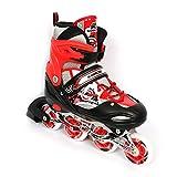 Kamachi Inline Skates, Large (Red/White)