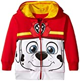 Nickelodeon Toddler Boys' Paw Patrol Character Big Face Zip-Up Hoodies, Marshall Red, 4T
