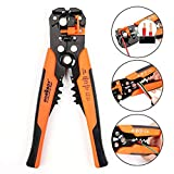 HORUSDY Wire Stripping Tool, Self-adjusting 8' Automatic Wire Stripper/Cutting Pliers Tool for Wire Stripping, Cutting, Crimping 10-24 AWG (0.2~6.0mm²)