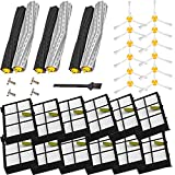 VacuumPal Replacement Parts Kit Includes 3 Debris Extractor Sets, 12 Side Brush & 12 Hepa Filters for Iobot Roomba 800 900 Series 805 860 870 871 880 890 960 980 Vacuum Accessories