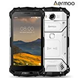 Rugged Smartphone Unlocked, Aermoo M1 4G LTE Android 7.0 Outdoor Unlocked Phone 5.2'' FHD IP68 Waterproof Helio P25 Octa-core 5580mAh 6GB RAM + 64GB ROM- 8MP+21MP Dual Sim Unlocked Smartphones- Sliver