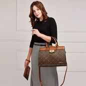 Dasein-Women-Satchel-Purses-Handbags-Monogrammed-Shoulder-Bags-for-Lady-Work-Tote-Bags-with-Matching-Clutch
