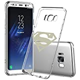 Samsung Galaxy S8 Case, Onelee - Marvel Superman Logo [Never fade] Shockproof Protective Clear Soft TPU Case Cover for Samsung Galaxy S8