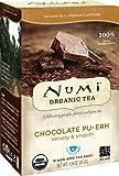 Numi Organic Tea Chocolate Pu-erh, 16 Count Box of Tea Bags, Black Tea