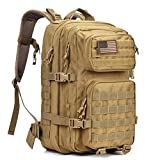 REEBOW GEAR Military Tactical Backpack Large Army 3 Day Assault Pack Molle Bag Backpack Rucksacks for Outdoor Hiking Camping Trekking Hunting