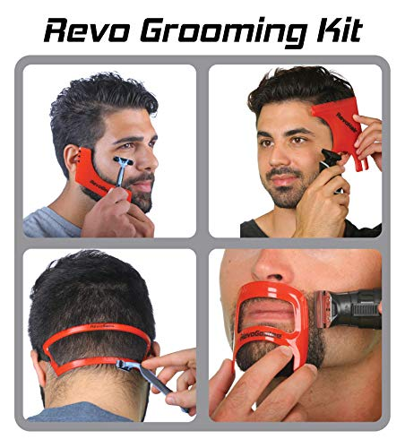 Revo Haircut Kit Beard Hair Goatee And Neckline Shaving Template Guide Perfect Hairline Lineup And Beard Shaping Tool Hair Cutting And Grooming Kit One Size Fits All Barber Supplies Beard Neckline