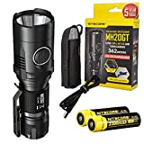Nitecore MH20GT 1000 Lumens USB Rechargeable Long Throwing CREE XP-L HI V3 Flashlight with 2X Rechargeable Battery, Lumen Tactical Adapters