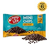 Enjoy Life Semi-Sweet, Dairy Free, Nut Free Vegan Chocolate Chips, 10-oz Bags, 6 Ct