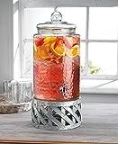 Home Essentials Fiddle & Fern 3 Gallon Beverage Dispenser W/Galvanized Base 517