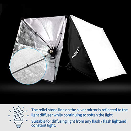 Emart 1000W Softbox Lighting Kit Photography Continuous