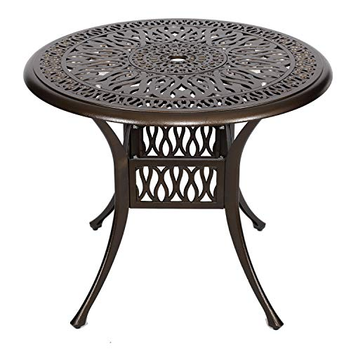 Yu Yusing 35 Outdoor Dining Table, Round Table Patio Furniture