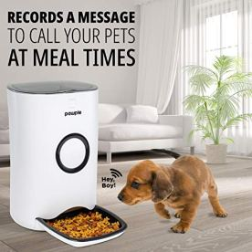 Pawple-Automatic-Pet-Feeder-Food-Dispenser-for-Cats-Dogs-Small-Animals-Features-Distribution-Alarms-Portion-Control-Voice-Recording-Programmable-Timer-Up-to-4-Meals-a-Day