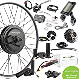 EBIKELING 48V 1500W 26' 700c Direct Drive Rear Waterproof Electric Bicycle Conversion Kit (700C/LCD/Thumb)