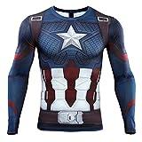 HIMIC E77C Hot Movie Super Hero Quick-Drying ElasticT-Shirt Costume (Small,Captain 5)