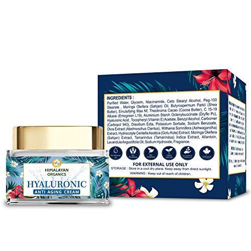 51or3mgfiEL - Himalayan Organics Hyaluronic Acid Anti Aging Cream for Under Eye Dark Circles, Anti Wrinkle, Skin Brightening, 50 ml