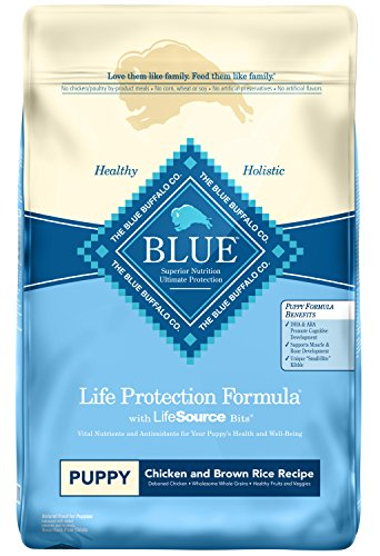 Blue Buffalo Life Protection Formula Puppy Dog Food - Natural Dry Dog Food for Puppies - Chicken and Brown Rice - 30 lb. Bag