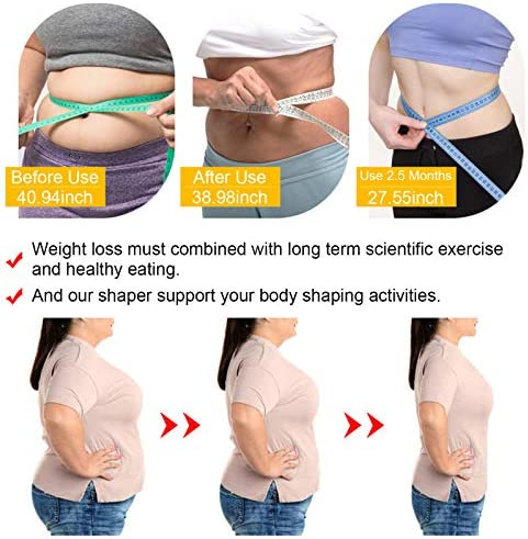 Waist Trainer for Women Weight Loss Everyday Wear,Waist Trimmer Sauna Sweat Workout Shaper Enhancer Body Slimmer Sauna Slimming Belt for Stomach Weight Loss Fitness Sweat Belt Abdominal Trainers S&M 3