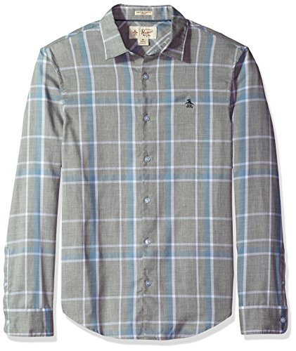 51oufh4XAyL Men's button-down shirt with mini collar Heritage slim fit - slim cut through chest, waist and arms