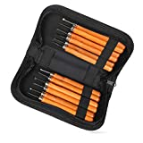 Wood Carving Tools,Delicacy 12 Set Professional Carbon Steel Carving Chisels Knife Kit for DIY Sculpture Carpenter Experts & Beginners