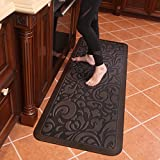 Butterfly Long Kitchen Anti Fatigue Mat Comfort Floor Mats - Perfect For kitchen, Non-Toxic, Highest Quality Material, Waterproof, 24 x 70 inches, Dark.Antique
