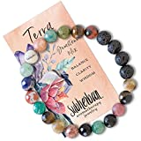 Subherban Essential Oil Bracelets - Aromatherapy Bracelet - Lava Rock Anxiety Bracelet - TERRA - Handmade Jewelry - Gifts for Women