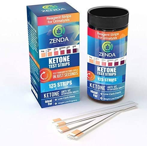 Ketone Strips - Perfect Ketogenic Supplement to Measure Ketones in Urine & Monitor Ketosis for Keto Diet, 125 Urinalysis Test Strips 5