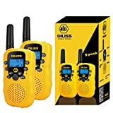 DilissToys Walkie Talkies for Kids Voice Activated Walkie Talkies for Adults & Kids 3 Mile Range 2 Way Radio Walkie Talkies Built in Flash Light 2 Pack - Yellow