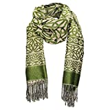 """Women's Trinity Knot Fashion Scarf - Hand Tied Fringes - 28"""" Wide x 76"""" Long"""