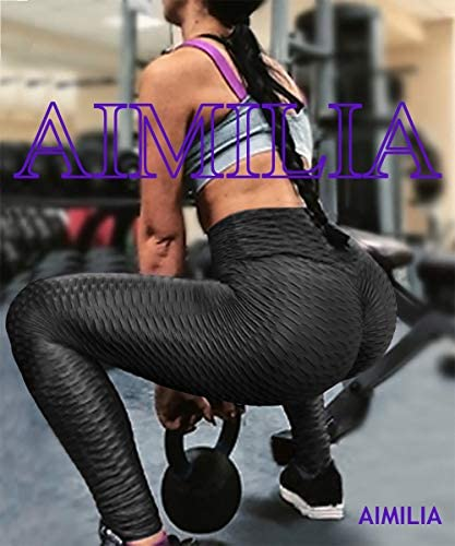 AIMILIA Butt Lifting Anti Cellulite Sexy Leggings for Women High Waisted Yoga Pants Workout Tummy Control Sport Tights 6
