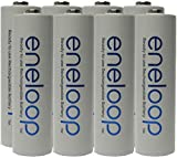 NEW Panasonic Eneloop 4th generation 8 Pack AA NiMH Pre-Charged Rechargeable Batteries -FREE BATTERY HOLDER- Rechargeable 2100 times replaces eneloop (3rd gen) AA 1800 Cycle, Ni-MH Pre-Charged Rechargeable Batteries