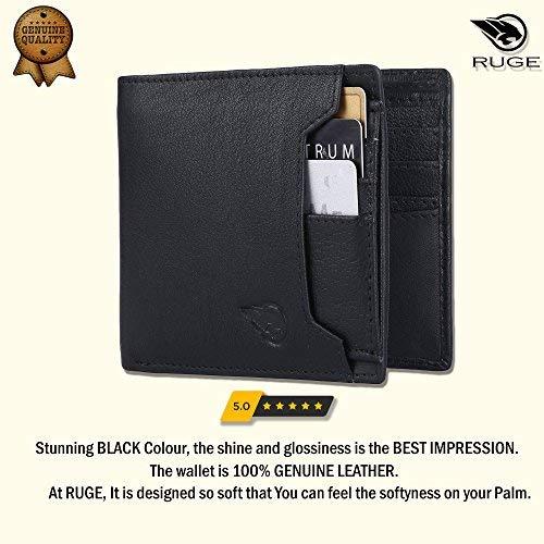 Ruge Genuine Leather RFID Blocking Men's Wallet - Antique Brown 3