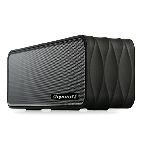 Portable Wireless Speaker with FM by Simpowel | Wireless Speaker System with Radio Micro SD Mp3 Player and NFC - Black