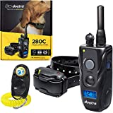 Dogtra 280C Remote Training Collar - 1/2 Mile Range, Waterproof, Rechargeable, Shock, Vibration - Includes PetsTEK Dog Training Clicker