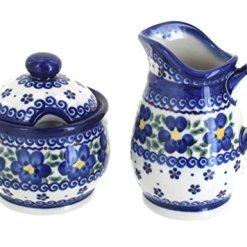 Blue Rose Polish Pottery Cream Sugar