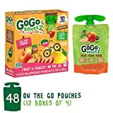 GoGo squeeZ Fruit & VeggieZ on the Go, Apple Peach Sweet Potato, 3.2 Ounce (48 Count), Gluten Free, Vegan Friendly, Healthy Snacks, Unsweetened, Recloseable, BPA Free Count
