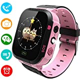 Kids Smartwatch Phone for Girls Boys - Children Touch Phone Wrist Watch with SOS Call Voice Intercom Camera Flashlight Voice Maths Game for Students Age 4-12