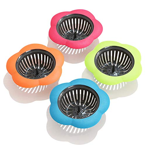 Betwoo Plastic Sink Strainer Kitchen Easy Clean Sink Drain Filter...