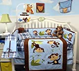 SoHo Baby Crib Bedding 10Pc, Playful Monkey