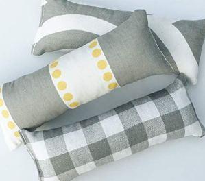 Cat-Toy-Catnip-Kickers-3-PACK-Grey-Yellow-White-heavy-cotton-fabric-Organic-catnip
