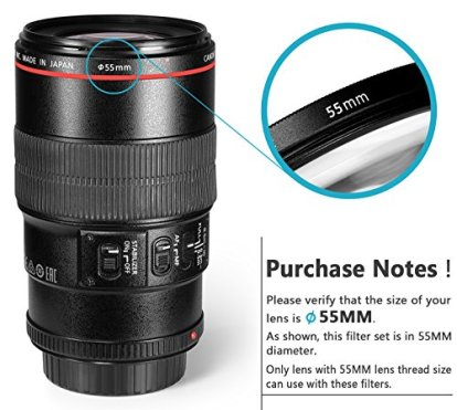 Neewer-55MM-Professional-UV-CPL-FLD-Lens-Filter-and-ND-Neutral-Density-FilterND2-ND4-ND8-Accessory-Kit-for-Sony-A37-A55-A57-A65-A77-A100