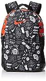 Nike Youth Brasilia Backpack - All Over Print, Black/Black/Habenero Red, MISC