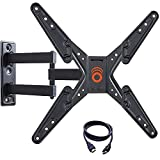 ECHOGEAR Full Motion Articulating TV Wall Mount Bracket for 26-55 Inch TVs – Extend, Tilt and Swivel Your Flat Screen TV 180 Degrees – Easy Single Stud Installation – EGMF1-BK